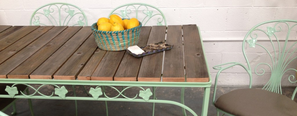 salvaged wood table top