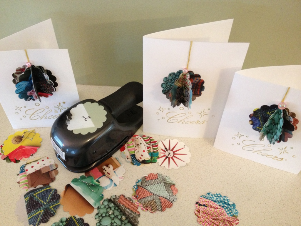 recycled catalog holiday cards