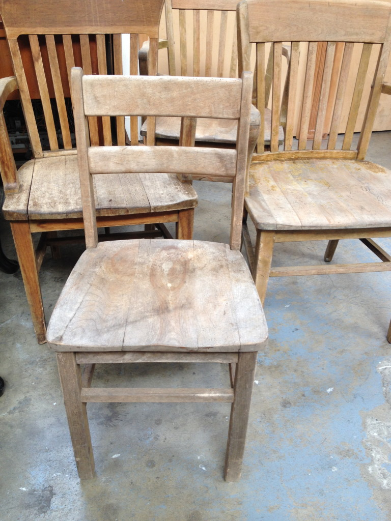 weathered white oak chairs