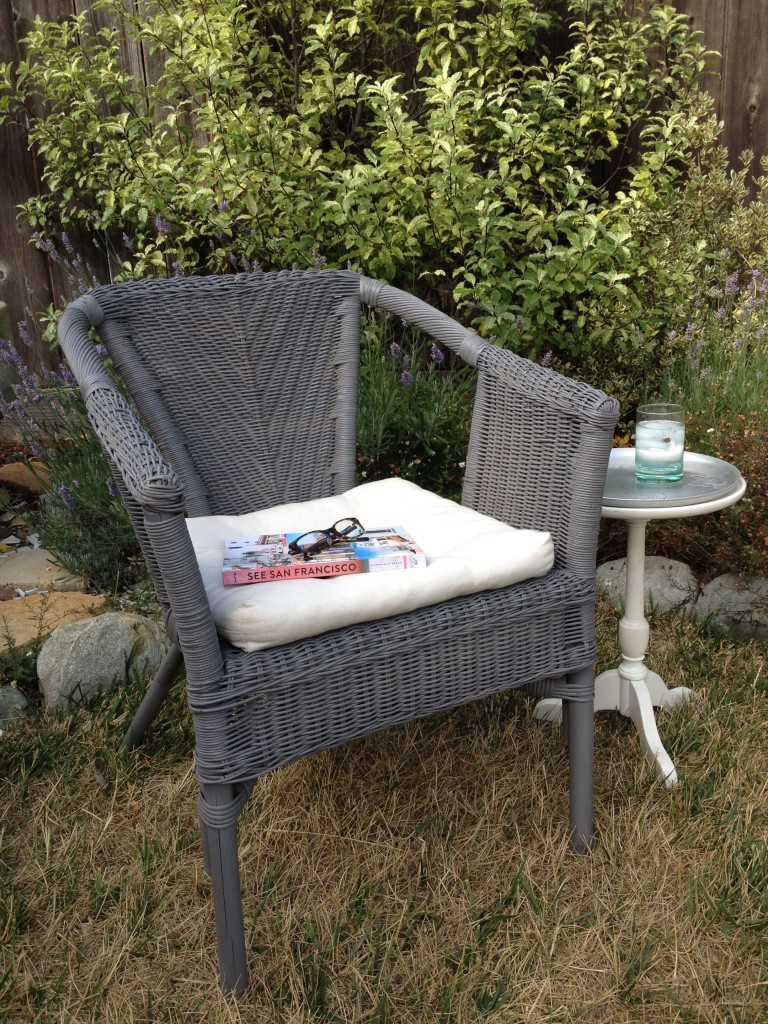 upcycled wicker chair