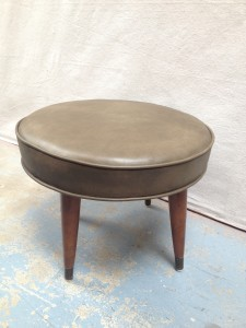 refurbished mid-century foot stool