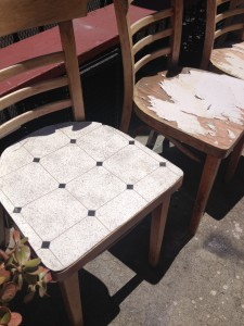 Grody little cafe chairs