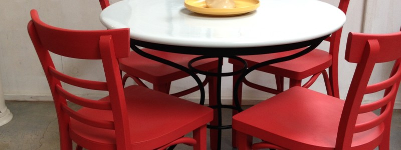 ceramic top cafe table